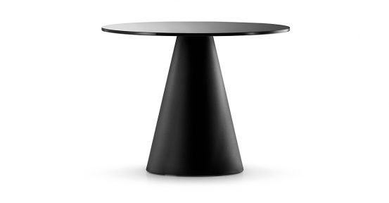Round Black Table