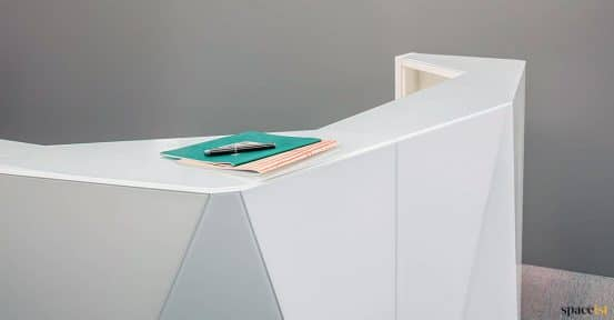 alps reception desk with angular top