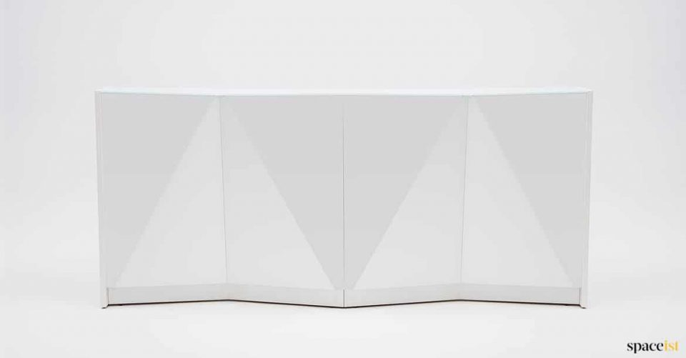 Alps small glass reception desk