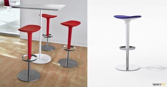 Red + blue bar stool