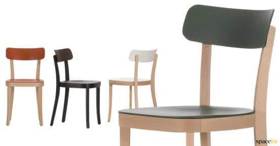 Solid wood beech cafe chair