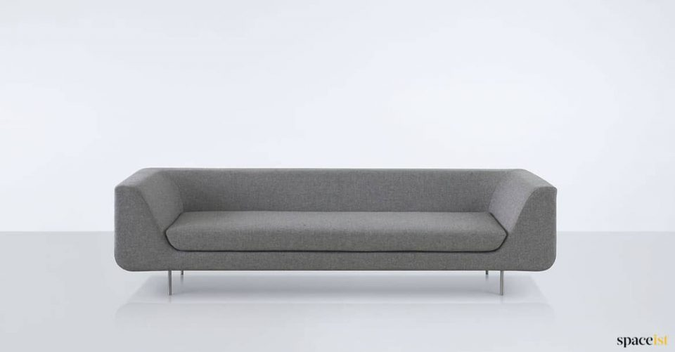 Three seater grey office sofa