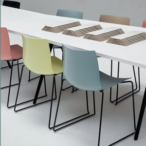 designer plastic meeting chair