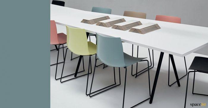 designer plastic meeting chair