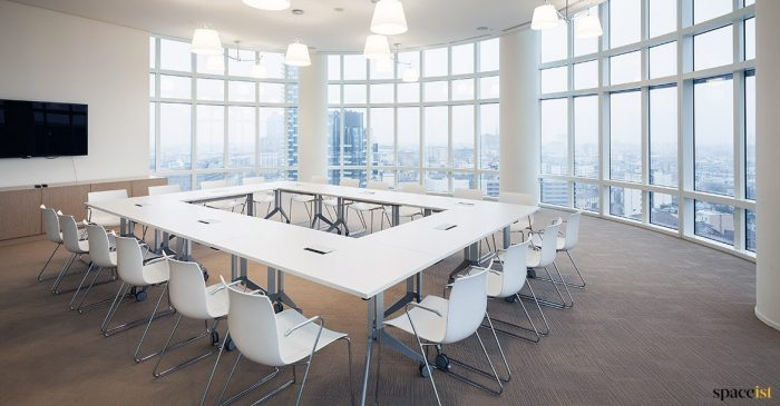 Catifa white meeting chair