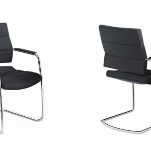 Director meeting chair with panelled seat