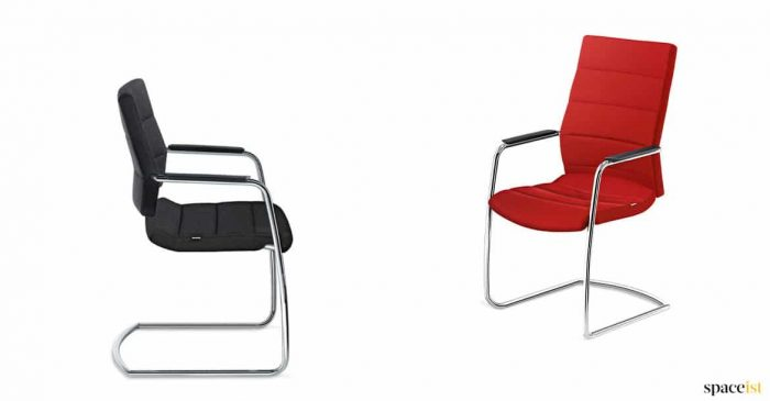 High back chair for executive office