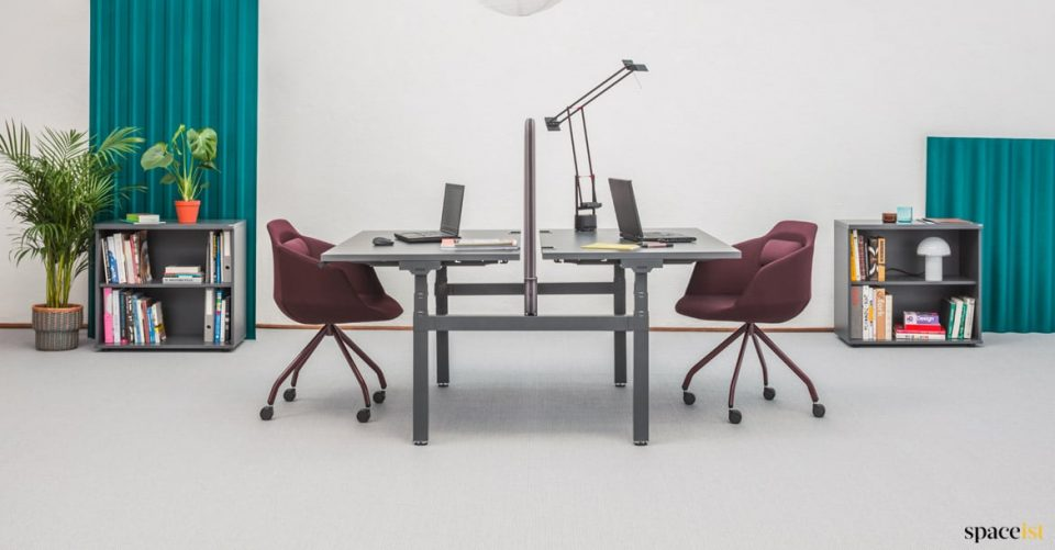 Drive two person height adjustable desk
