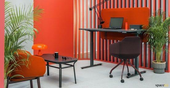 Black & orange standing desk