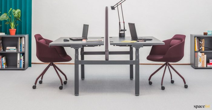 Drive double electronic height adjustable desk