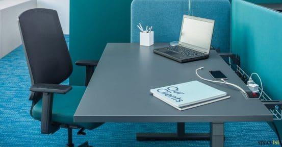 Drine grey desk closeup