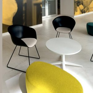 Duna black reception chair