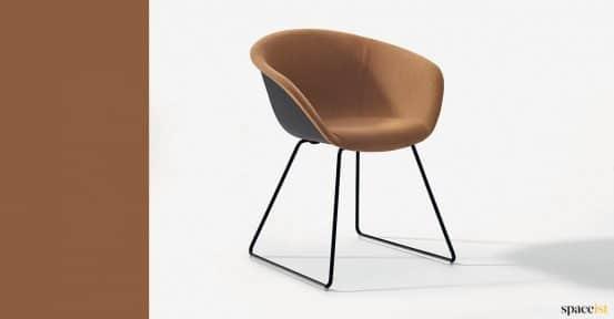 Duna brown tub chair