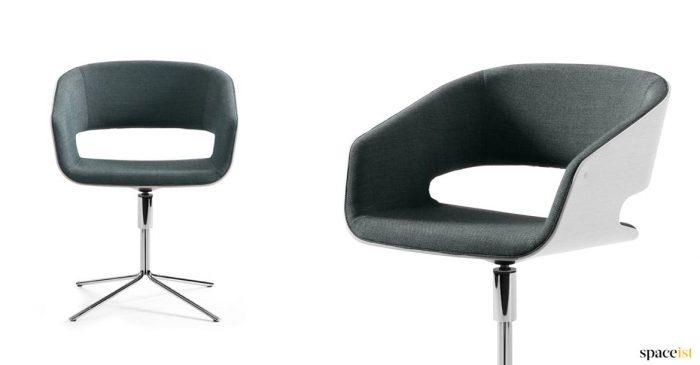 chair with a star chrome leg