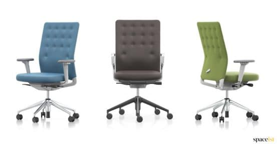 three button backed desk chair