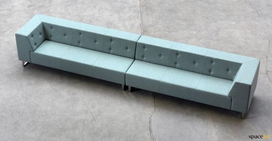 six seater buttoned backed sofa