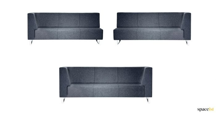 Modular sofa for corner office