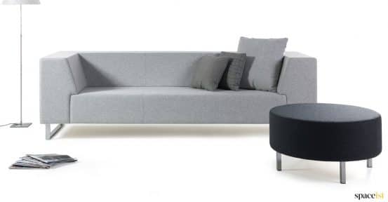 grey angular office sofa