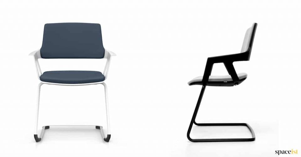 Two stacking meeting chairs