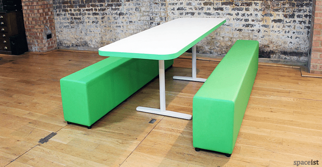 Spaceist-soft-bench-green-with-edging-detail-t-base