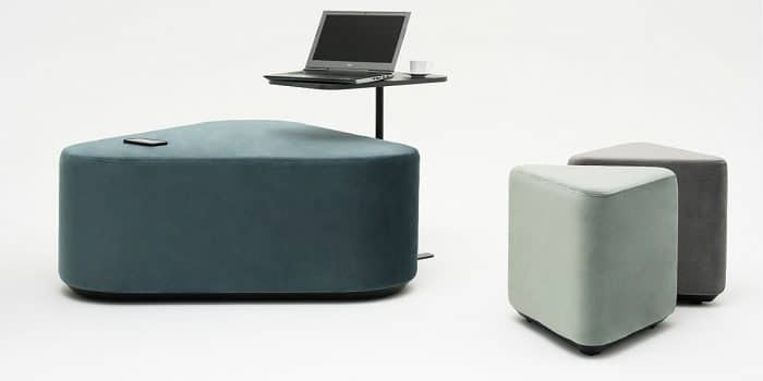 Ottoman with laptop table