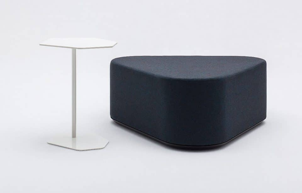Lounge seating cube with matching table