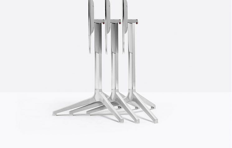 Silver Folding Cafe Table