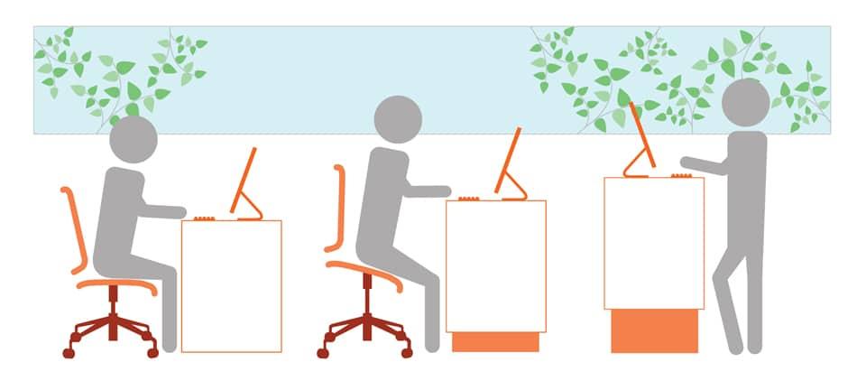 Height Adjustable desksweb