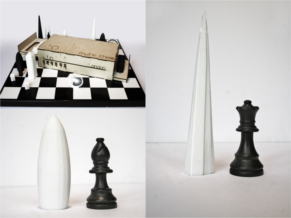 Skyline chess set