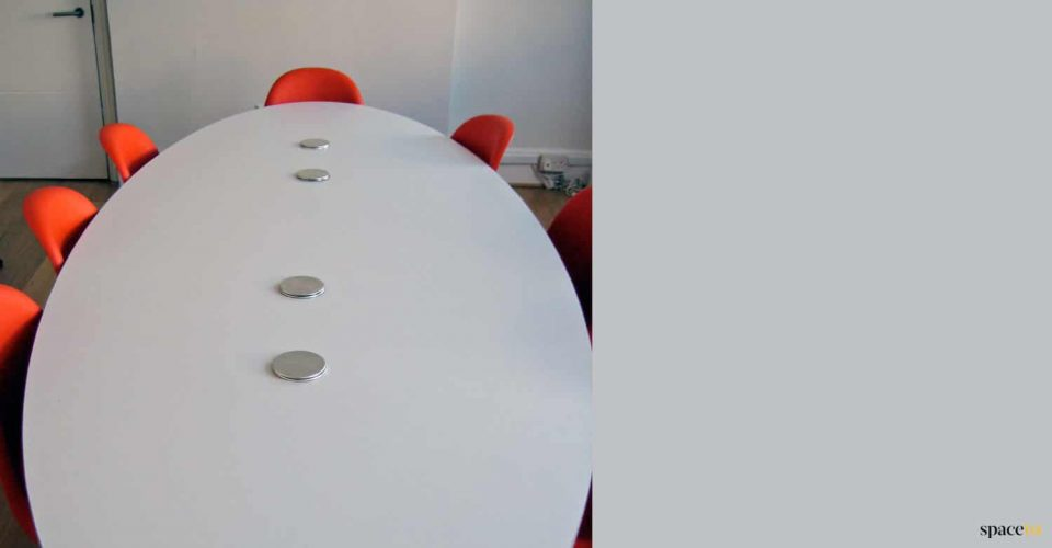 Oval meeting table to seat 8