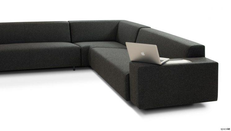 Corner sofa + plug socket