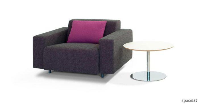 Dark grey modern office reception chair