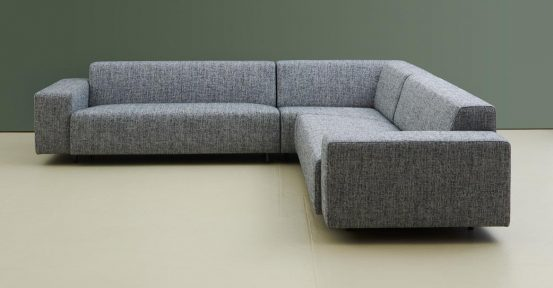 Large grey corner sofa