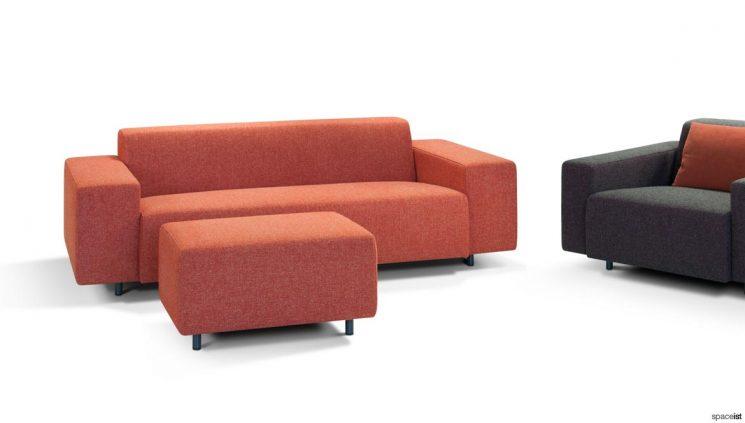 orange 2 seater sofa