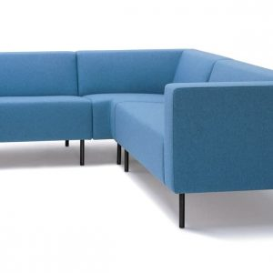 18 blue corner office sofa black leg