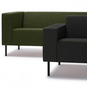 18 sage green office sofa black leg