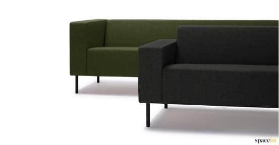 18 sage green office sofa black leg