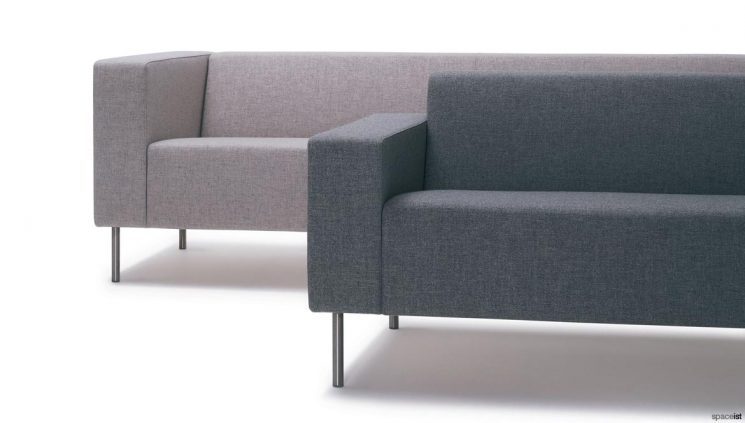 High and low arm sofa