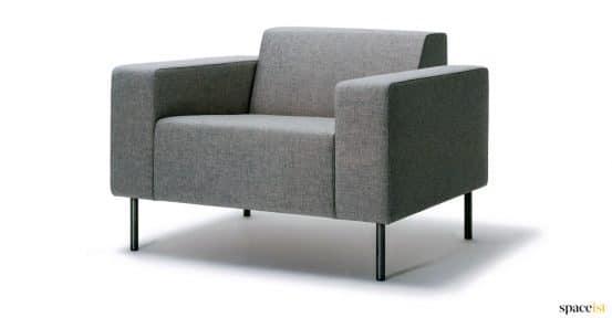 Grey architectual chair black leg