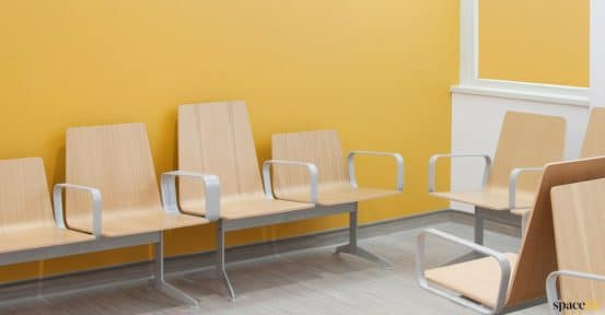 hospital or clinic wood seating