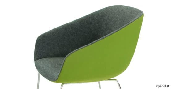 22 office reception chair in green close-up