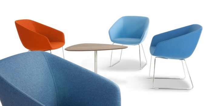 Three reception chairs