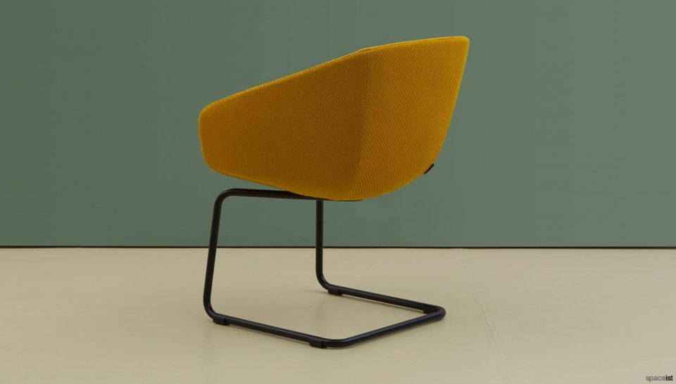Yellow cantilever chair