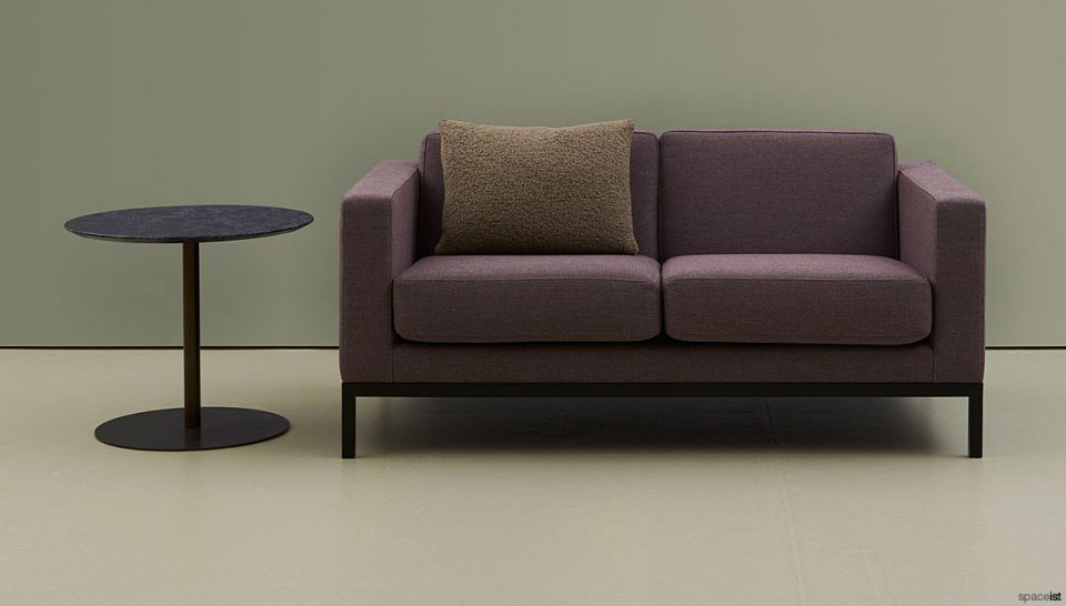 two seater purple/red sofa