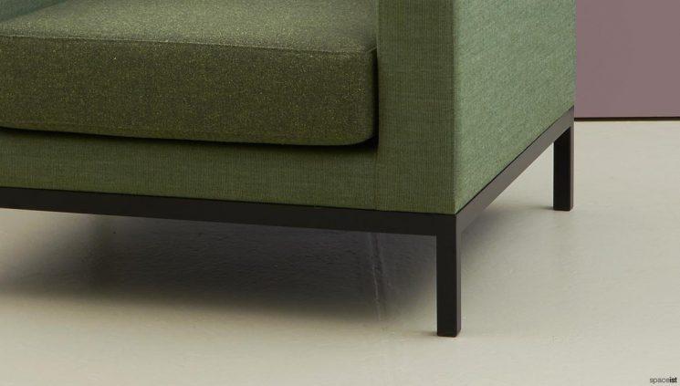 Green chair closeup