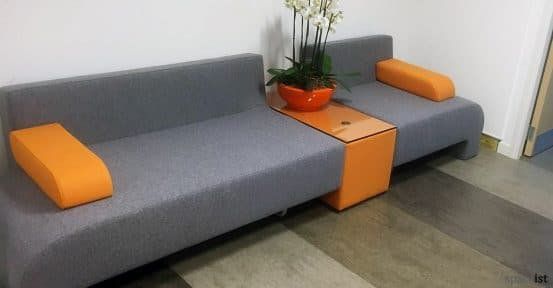 Orange grey office sofa