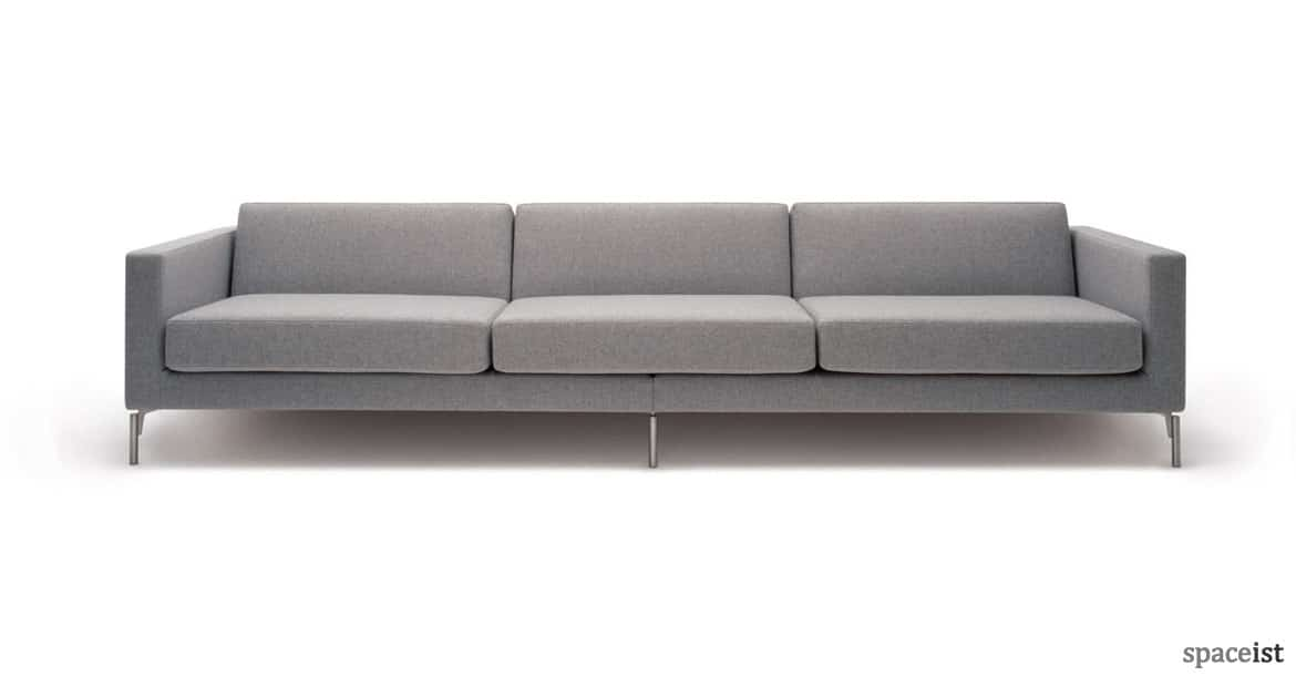 sofa for office. long light grey fabric reception sofa for office