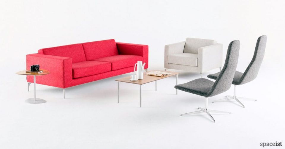 34 pink office reception sofa with chair