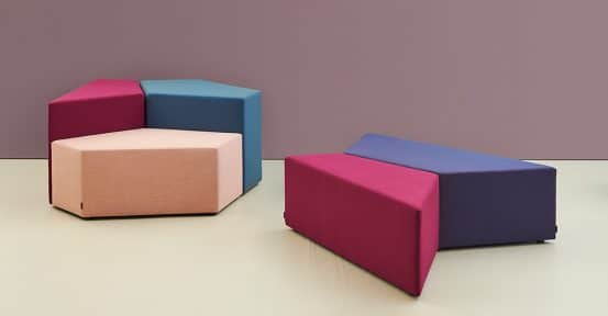 Multi coloured seating