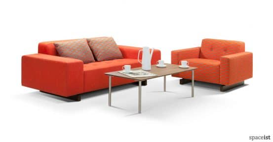 46 two seater office sofa in orange